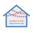 celebration independence day america at home vector image