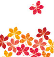 chestnut abstract stylized fall leaves vector image vector image