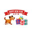 christmas dog sale banner template vector image