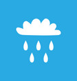 cloud with rain sign 505 vector image vector image