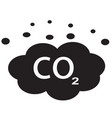 co2 icon on white background flat style carbon vector image vector image