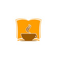 coffee book icon logo design element vector image