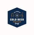 cold beer abstract beer sign logo or vector image vector image