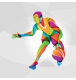 Color of basketball player vector image vector image