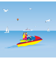 Couple on a jet ski Summer vacation vector image vector image