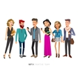 Creative team people Teamwork vector image vector image