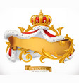crown and mantle king 3d icon vector image vector image