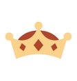 crown king isolated icon design vector image