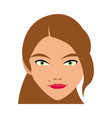 cute face woman female hairstyle beautiful vector image vector image