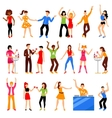 Disco Party Icons Set vector image