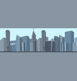 drawing image of the modern city landscape vector image