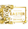 easter horizontal sale banner with realistic vector image vector image