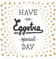 easter typography design elements for greeting vector image