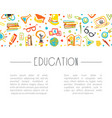 education banner with space for text and school vector image vector image
