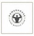 fitness gym badge or emblem vector image
