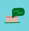 flat icon of gift box black friday surprise vector image vector image
