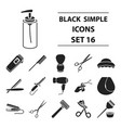 hairdressery set icons in black style big vector image