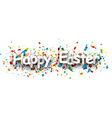 Happy easter paper banner vector image vector image