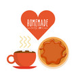 homemade with love design vector image vector image