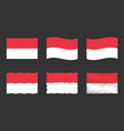 indonesia flag set official colors and proportion vector image vector image