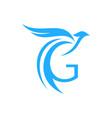 letter g bird logo icon vector image vector image