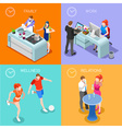 Life Time 01 People Isometric vector image vector image
