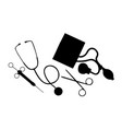medical equipment silhouette vector image