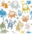 Monster patterns vector image
