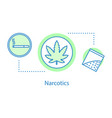 narcotics concept icon vector image vector image
