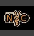 new york t-shirt printing design nyc emblem vector image