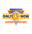 only now super offer limited time sale promotional vector image vector image