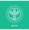 Outline farm fresh monogram or logo Abstract vector image vector image