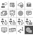 Outsourcing icons set - Simplus series vector image vector image