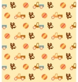 Pale retro wallpaper with seamless toys pattern vector image vector image