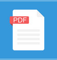 pdf file icon flat design graphic pdf vector image vector image