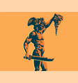 perseus with the head of medusa vector image vector image