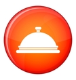 Restaurant cloche icon flat style vector image vector image