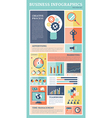 Retro business flat icons infographics set vector image vector image