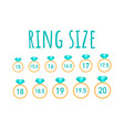 ring size the ring test stock vector image vector image