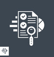 seo audit glyph icon vector image vector image