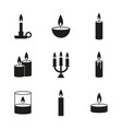 set candles icons vector image