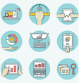 Set of data analytics icons for business - part 1 vector image vector image
