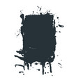spilled black ink or paint spot in grunge vector image