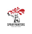 spray painters car with people logo icon vector image vector image