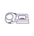 steam iron isolated icon vector image