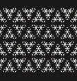 subtle geometric texture monochrome snowflake vector image vector image