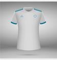 t-shirt soccer jersey vector image