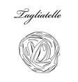 tagliatelle pasta authentic italian pasta hand vector image vector image