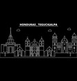 tegucigalpa silhouette skyline honduras vector image