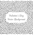 Valentines Day black and white Hearts Background vector image